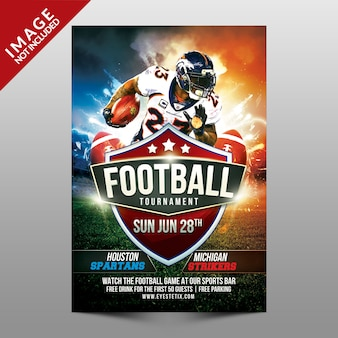 Football tournament flyer