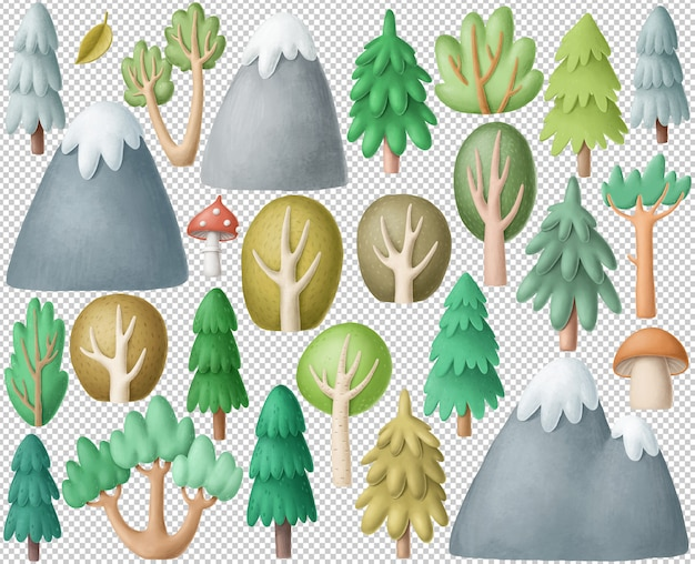 Forest clipart-collectie