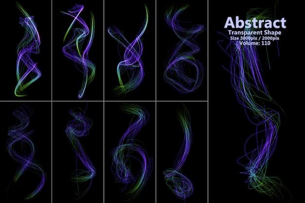 Forma aislada de llamas abstractas