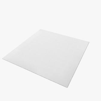 Forma de alfombra cuadrada aislada