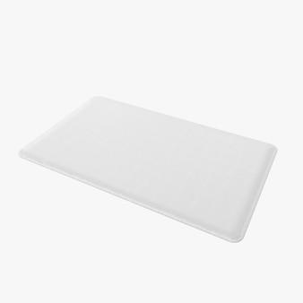 Forma de alfombra rectangular aislada