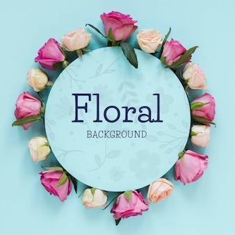 Forma de círculo con flores