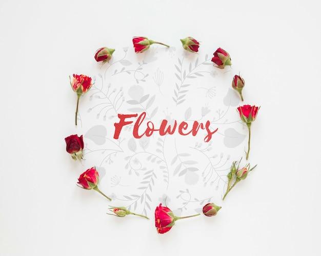 Forma de círculo de flores