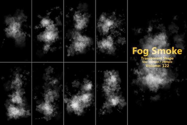 Forma transparente de humo de niebla