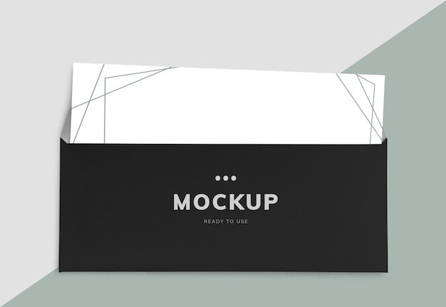 Formele brief en envelop mockup