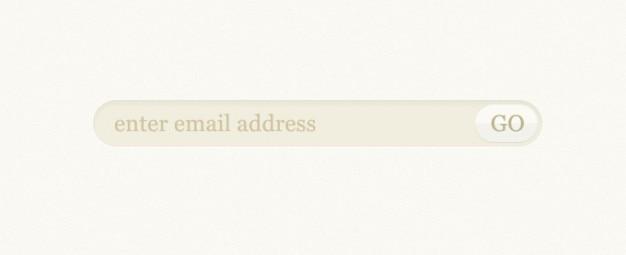 Formulario de suscripción de correo electrónico psd