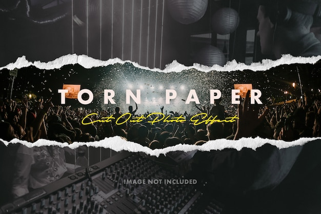 Foto-effect gescheurd papier