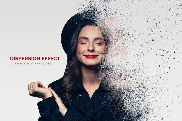 Foto-effect sjabloon voor stofverspreiding