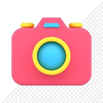Fotocamera 3d-pictogram