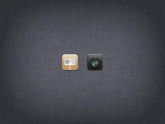 Fotocamera kleine design icoon