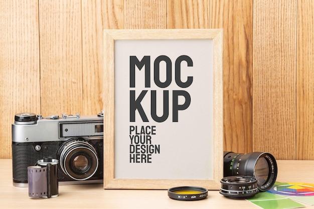 Fotograaf workshop met frame mock-up arrangement