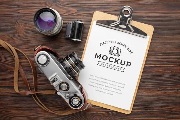 Fotograafworkshop met mock-up klembord