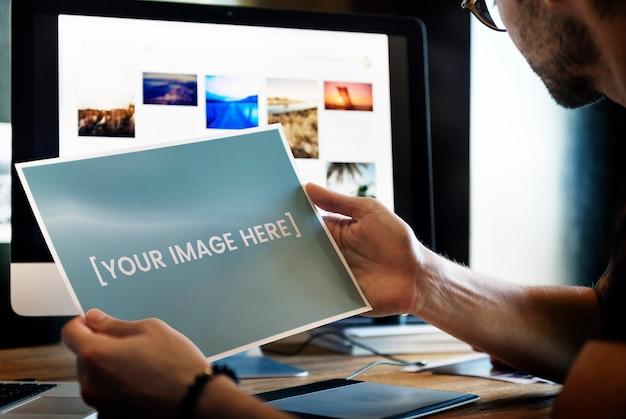 Fotografia stampata in bianco