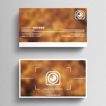 Fotografie sjabloon voor visitekaartjes