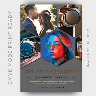 Fotografie studios flyer ontwerpsjabloon