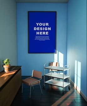 Fotolijst mockup ontwerpruimte in de kamer