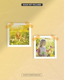 Fotolijst polaroid mockup