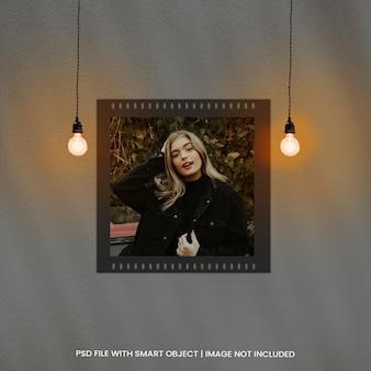 Fotolijsten moodboard mockup met lichteffect premium psd
