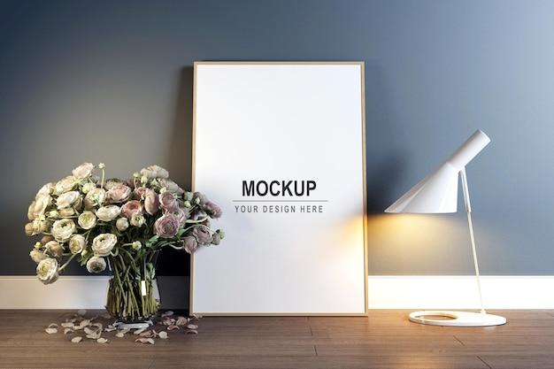 Fotolijstmodel in de woonkamer