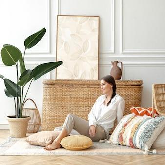 Fotolijstmodel met bohemien interieur