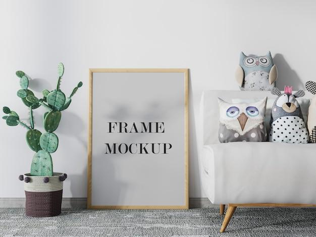 Fotolijstmodel naast cactusontwerp