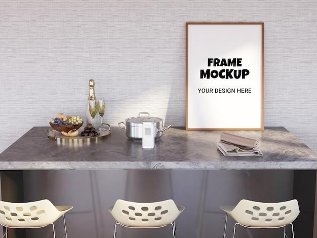 Fotolijstmodel op de bartafel