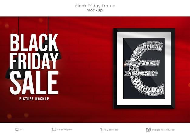 Fotolijstmodel voor black friday-marketingcampagne met kopieerruimte