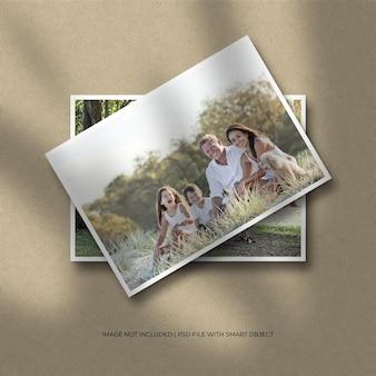 Fotomodel met liggend papierframe
