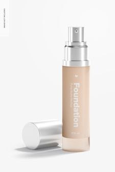 Foundation pump bottle mockup, geopend