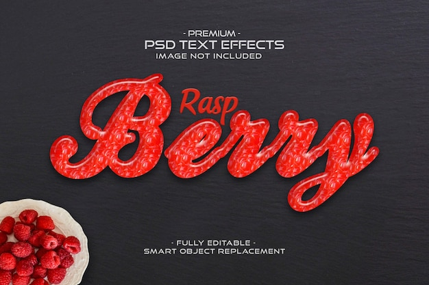 Framboos teksteffect