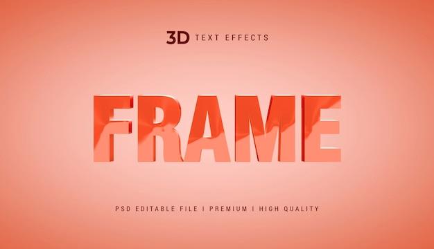 Frame 3d tekststijleffect mockup