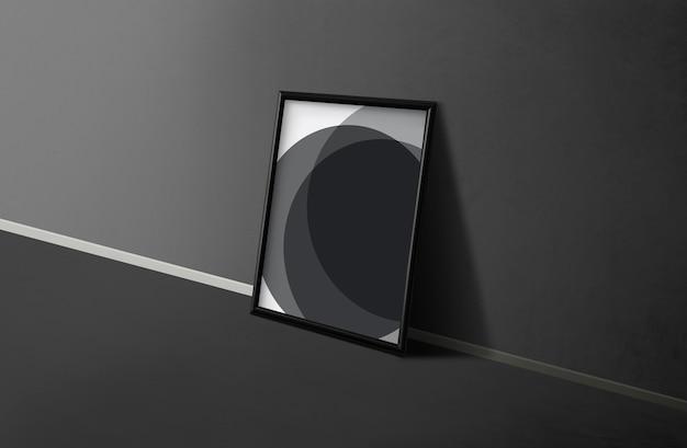 Frame door een zwarte muur