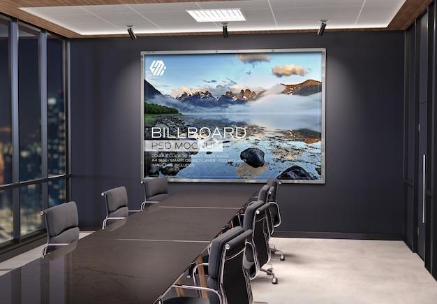 Frame hangend aan kantoormuurmodel