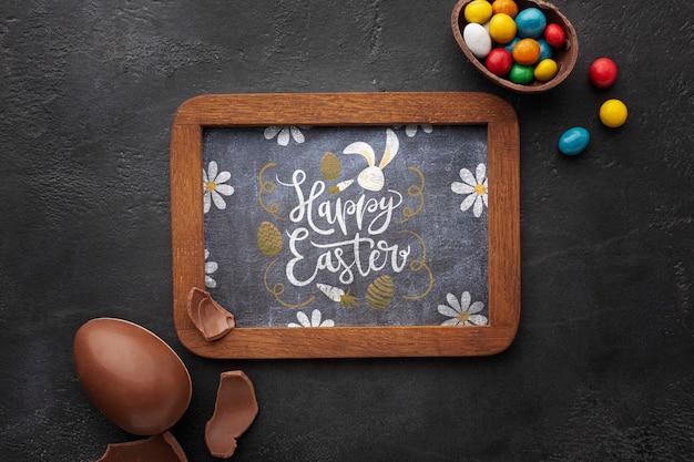 Frame met chocolade-eieren