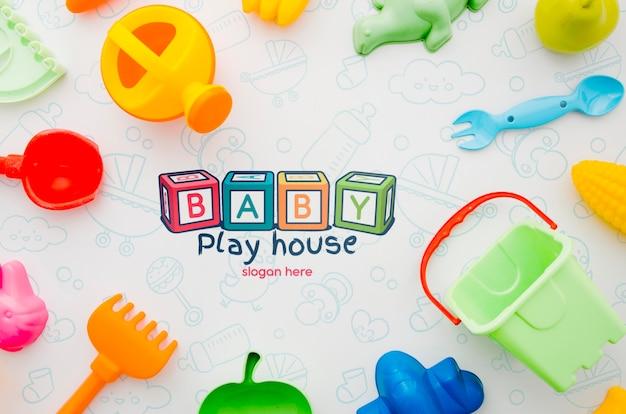 Frame met kinderspeelgoed