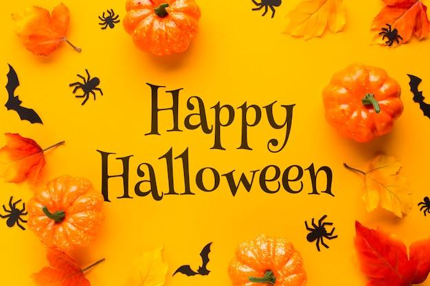 Frame met pompoenen op halloween-dag