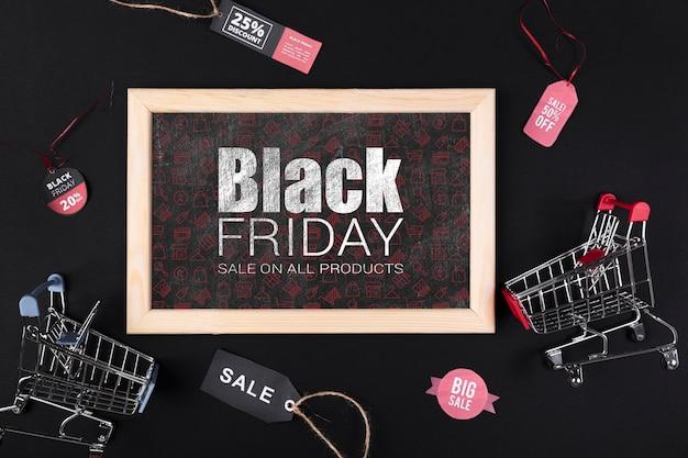 Frame met promotie van het bord de zwarte vrijdag