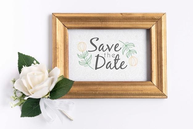Frame met sparen de datum