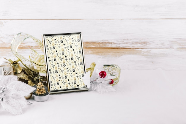 Frame mockup met kerst elementen