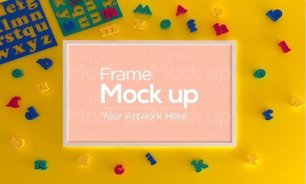 Frame mockup met speelgoed