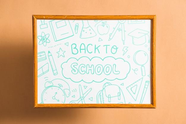 Frame mockup met terug naar school concept