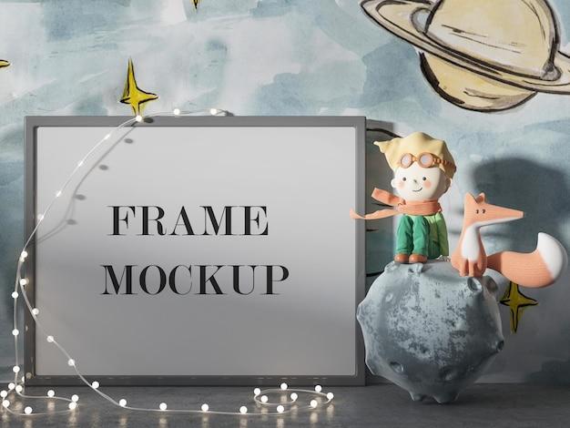 Frame mockup naast de kleine prins