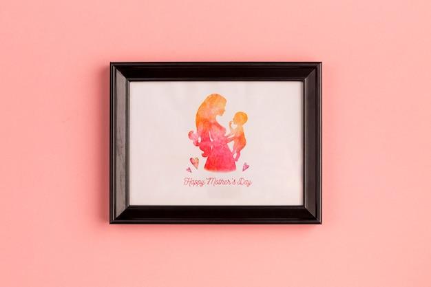 Frame mockup voor moederdag