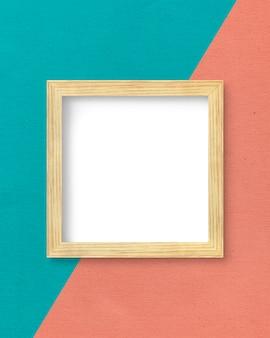 Frame op een tweekleurige muur