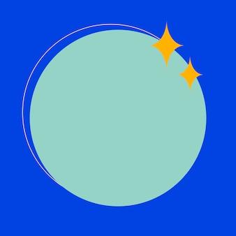Frame psd in blauw met fonkelende sterren