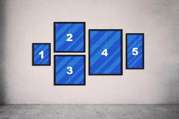 Frames op muurmodel
