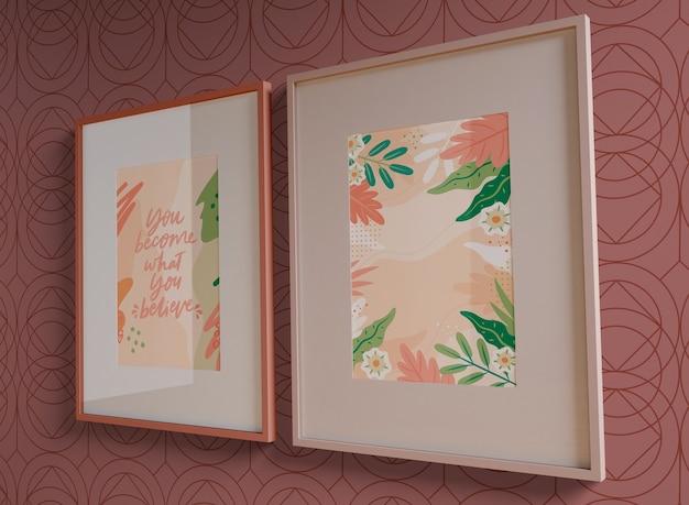 Frames schilderen met lege ruimte