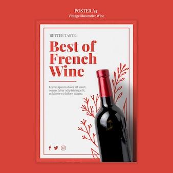 Frans wijn posterontwerp