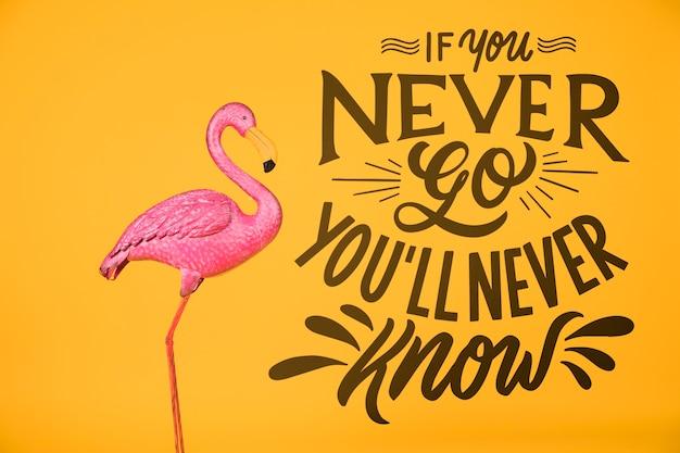 Frase di lettering motivazionale per le vacanze che viaggiano concetto