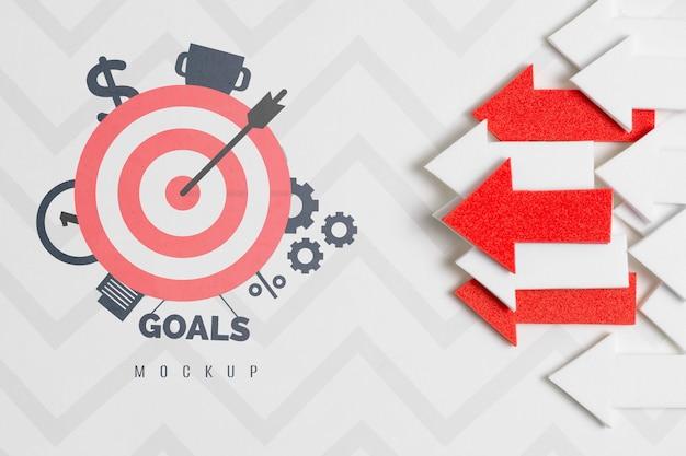 Frecce concetto mock-up